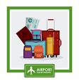 Airport design vector image