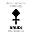 astrology astral planet drudj black moon vector image vector image