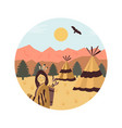 background with settlement of native americans usa vector image vector image