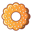 bagel icon cartoon style vector image vector image
