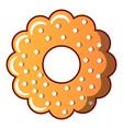 bagel icon cartoon style