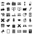 banking icons set simle style vector image vector image