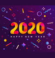 banner for 2020 insta new year vector image vector image