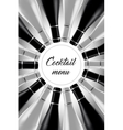 Black and white cocktail card vector image vector image