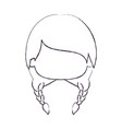 blurred thin silhouette of faceless head of little vector image