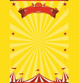 circus yellow background vector image vector image