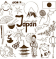 Collection of Japan icons vector image vector image