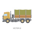 color flat icon construction machinery vector image