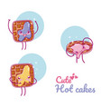 cute toast kawaii cartoon vector image vector image