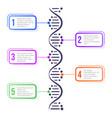 dna molecule concept abstract diagram molecule vector image vector image