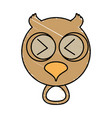 drawing owl face animal vector image