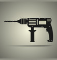drill icon in flat design black and white colors vector image