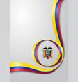 ecuadorian flag wavy background vector image vector image