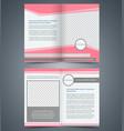 empty bifold brochure template design vector image vector image