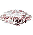 Featuring word cloud concept vector image