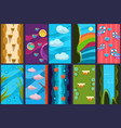 flat set of vertical backgrounds for mobile vector image vector image