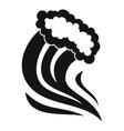 Foamy splash icon simple style vector image vector image