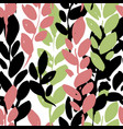 foliage branches decorative leaves print vector image vector image