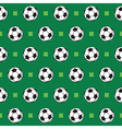 football or soccer pattern vector image vector image