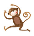 funny monkey animal cartoon vector image vector image