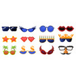 funny party glasses carnival masquerade vector image