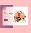 garbage website landing page design vector image vector image