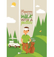 golf golfers man character in sportswear vector image vector image