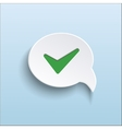 green check mark on speech bubble vector image vector image