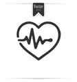 heartbeat icon on white background vector image vector image