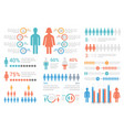 human infographics vector image vector image