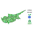 leaf green composition cyprus island map vector image vector image