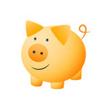 little cheerful pig vector image