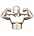 male body builder logo vector image vector image