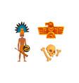 maya civilization symbols set american tribal vector image vector image