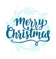 merry christmas vintage style label lettering vector image