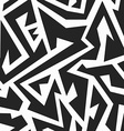 Monochrome tribal seamless pattern