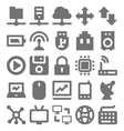 Network Technology Icons 1 vector image vector image