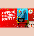 office christmas party merry christmas and vector image vector image