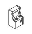 old arcade machine gaming icon retro video game vector image vector image