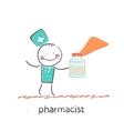 pharmacist vector image vector image