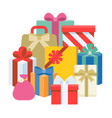 pile present boxes vector image vector image