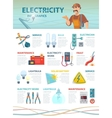 Professional Electrician Infographic Template vector image