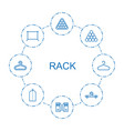 rack icons vector image vector image
