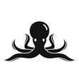 sea octopus icon simple style vector image