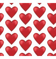 seamless pattern rounded red hearts vector image vector image