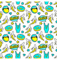 Seamless pattern with fashion patches