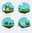 set icons with different types electricity vector image vector image