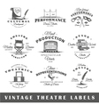 Set of vintage theatre labels vector image vector image