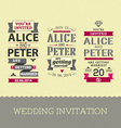 set wedding stamps invitations vector image vector image