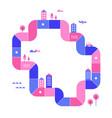smart city development infographics map vector image